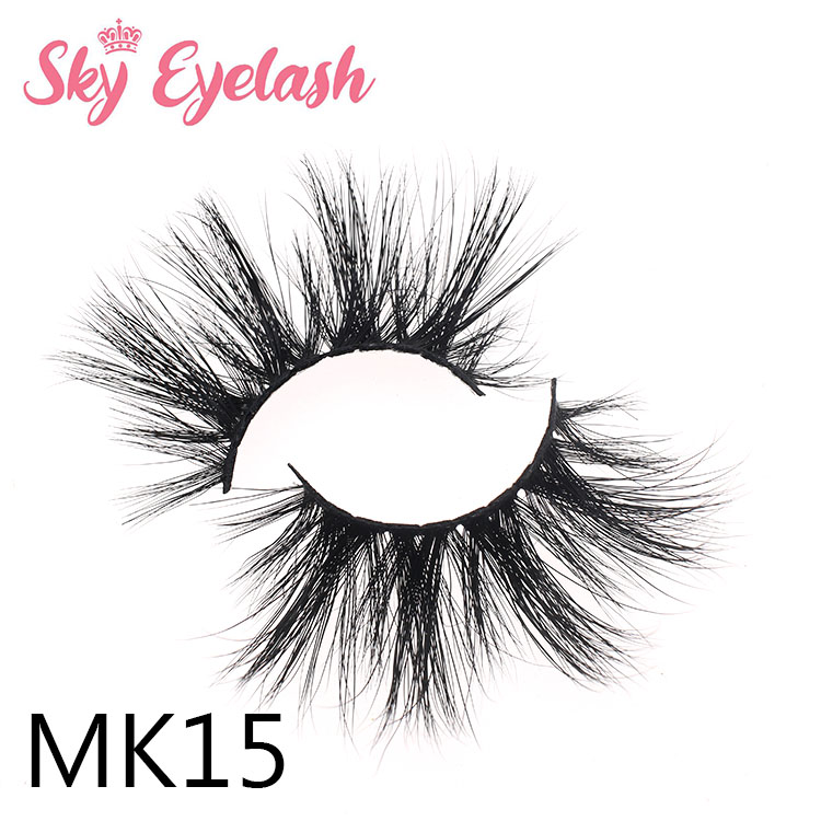 Luxury natural mink lashes glitter private label wholesale supplier favourable price to US ES