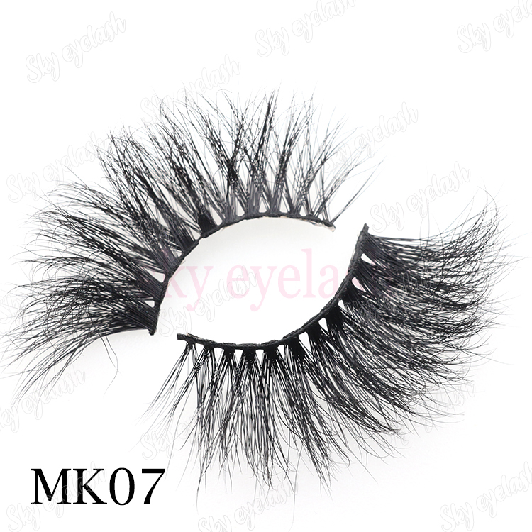 Best 25mm 5D mink strip false eyelashes with lash adhesive private label CO