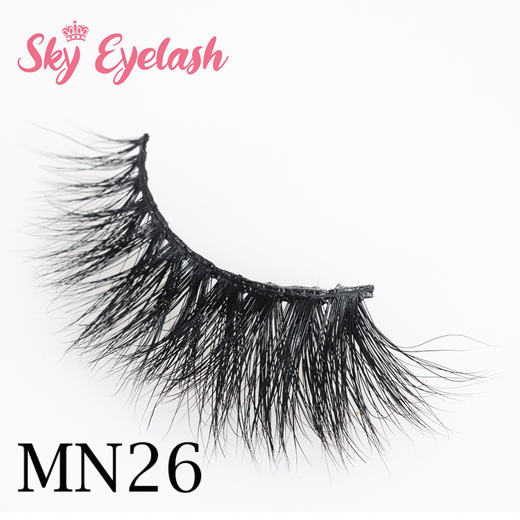 Lashes vendor custom false mink eyelashes with private label packages to USA CO