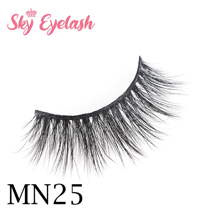 Wholesale natural mink lashes in package Hollywood lashes USA