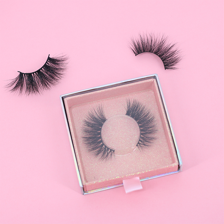 Custom false eyelashes 25mm mink lashes with best cheap price to USA CO