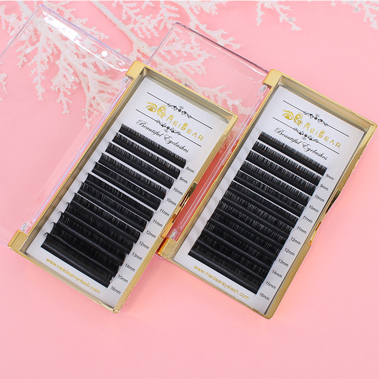 Wholesale individual lashes extensions classic and fast fan logo custom manufacturer ES