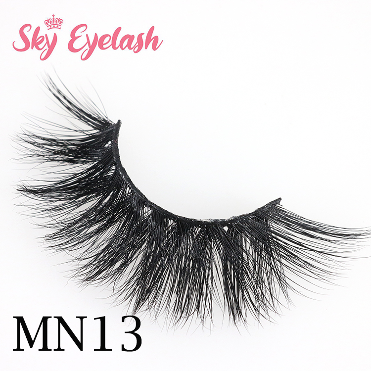 Real mink eyelash vendors wholesale natural 3D mink fake eyelashes with best lash glue CO
