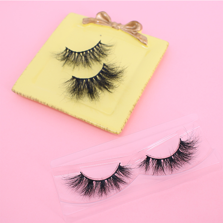 Best selling 25mm mink eyelashes packaging with own brand lash glue CO