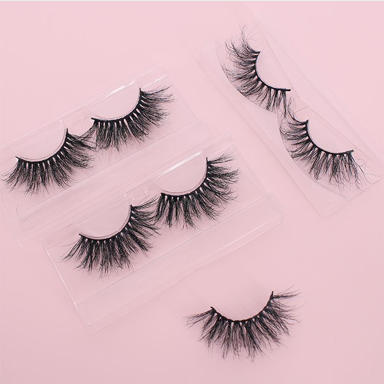 Wholesale private label 25mm fluffy 5D mink eyelashes with custom packaging CO