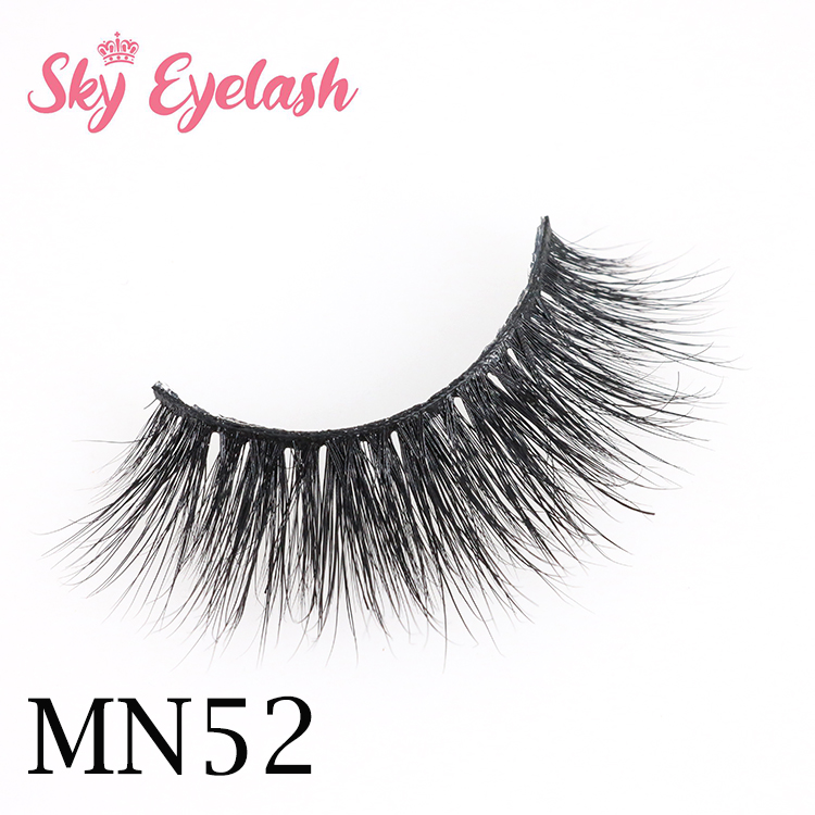 3d thick volume voluminous long mink false lashes vendors supplied with custom logo to Seattle AW