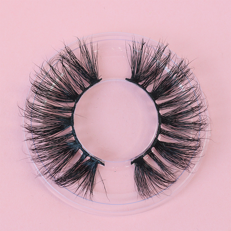 Fluffy own brand new style 25mm 3D mink eyelashes with customized boxes