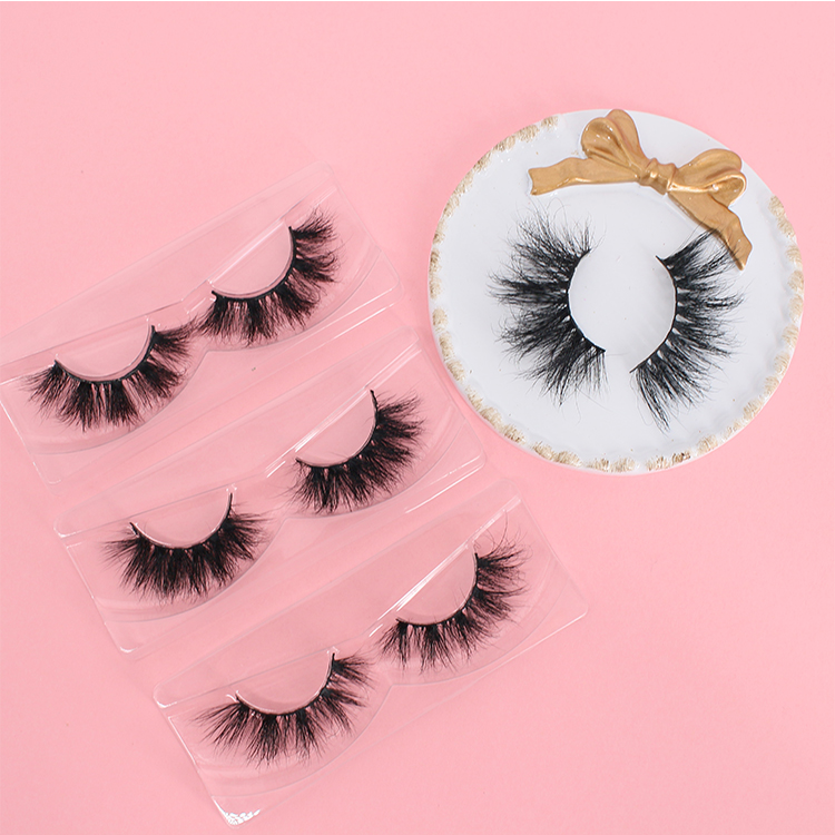 Wholesaler supply 5D mink eyelash with eyelash glue liner private label to USA CO