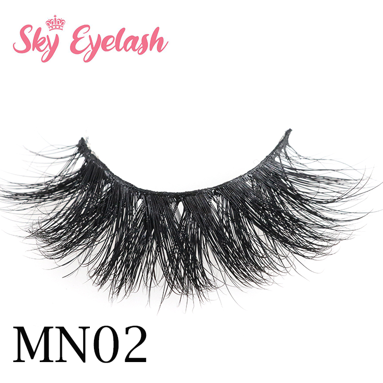 Eyelash SGS approved manufacturer wholesale fluffy 3D mink fur eyelashes with private label-SX