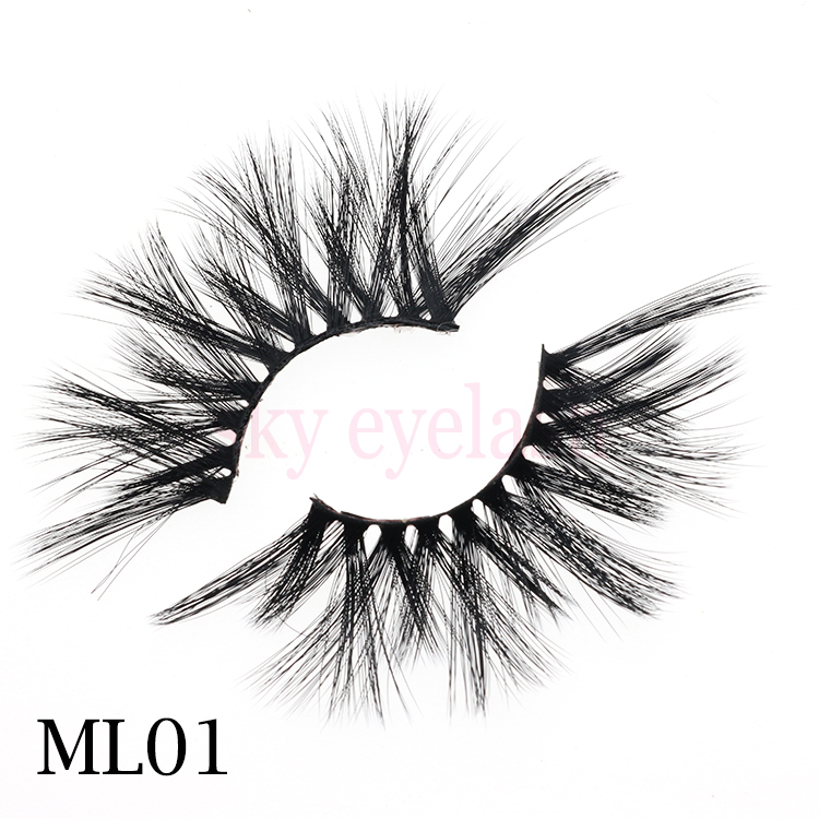 False eyelash factory lashes vendor 25mm long 3D faux mink eyelashes with no minimum-SX
