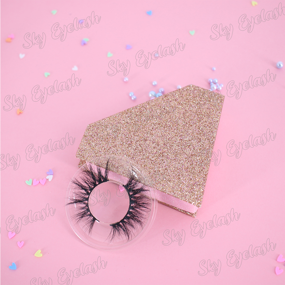 Lashes manufacturer 100% handmade dramatic long 3D faux mink eyelashes with eyelashes box-SX