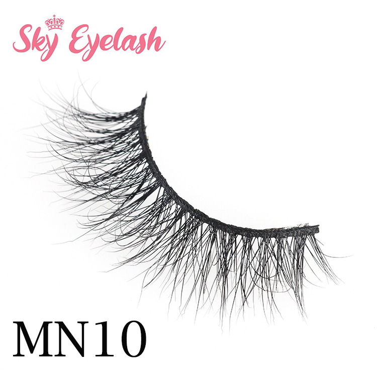 Mink lash vendors wholesale handmade reusable 3D mink eyelashes with private label-SX