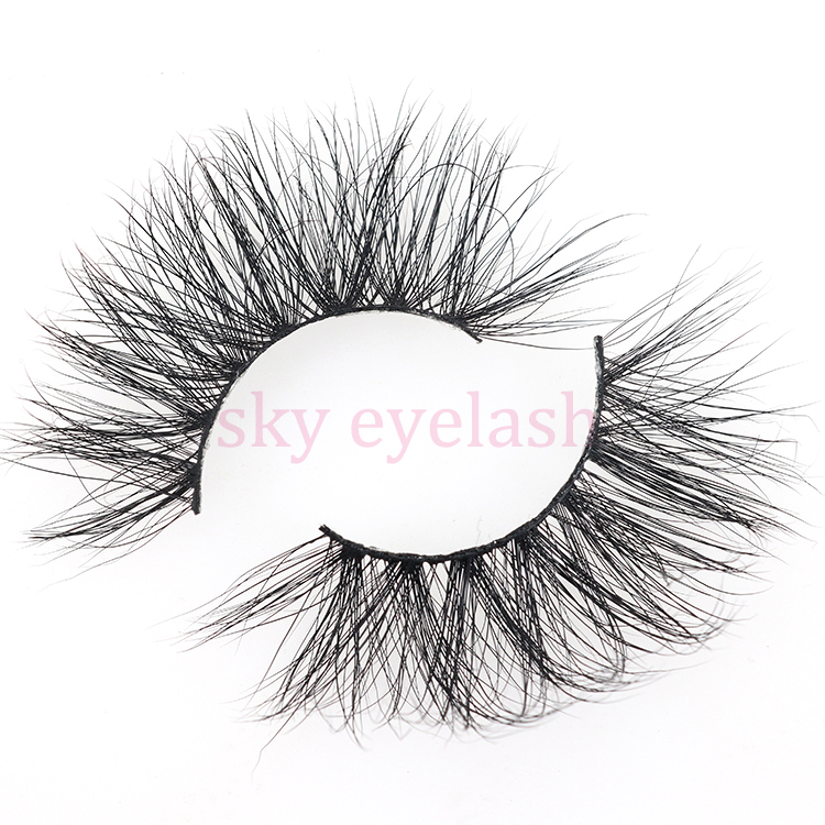 Real mink lash vendor wholesale cruelty free 25mm 5D eyelashes with private label-SX