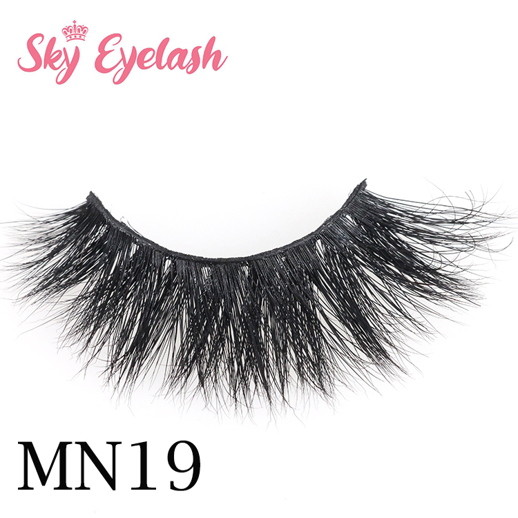 Wholesale Natural Volume 3D Real Mink Lashes With Cheap Custom Eyelash Packaging OL