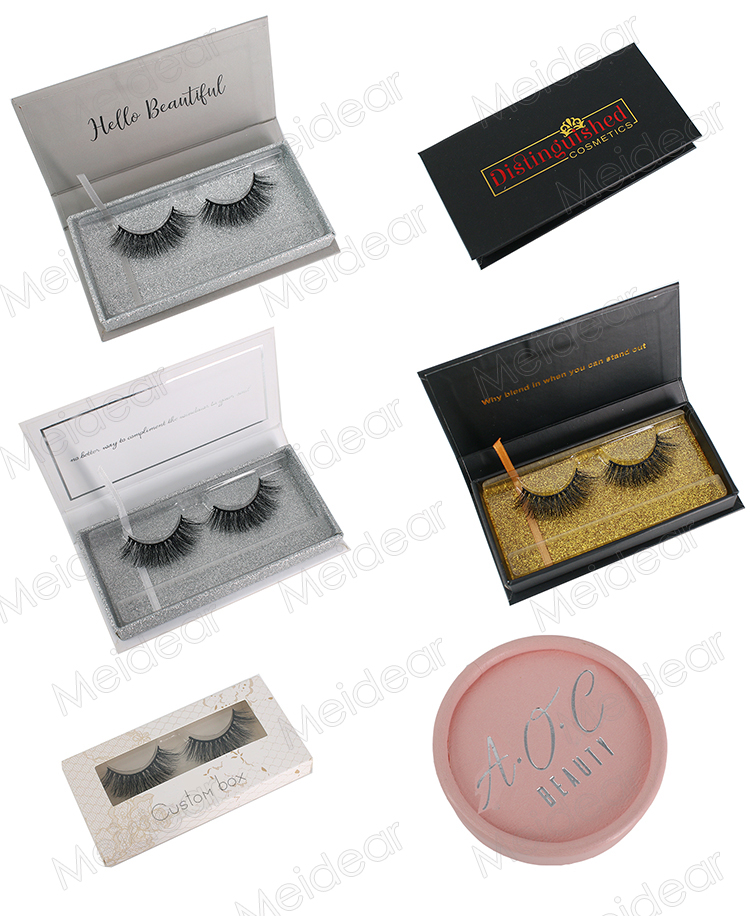 Eyelash box vendors wholesale eyelash packaging for handmade mink eyelashes OL