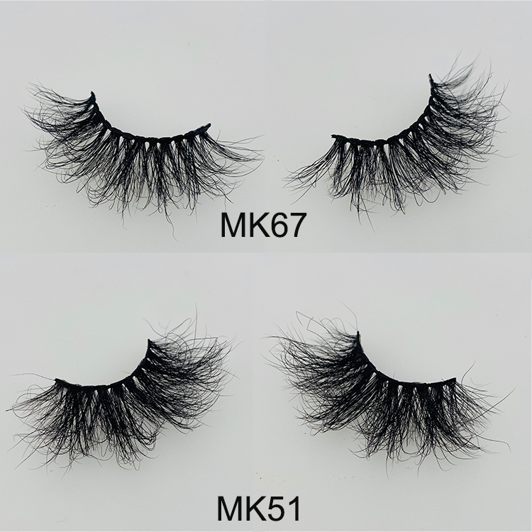 Wholesale 5D mink eyelashes with private label packaging USA CO