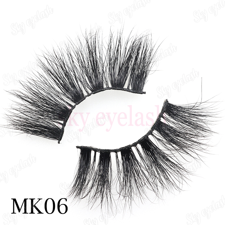 Wholesale 25mm long 3D mink eyelash with private label packaging to America CO