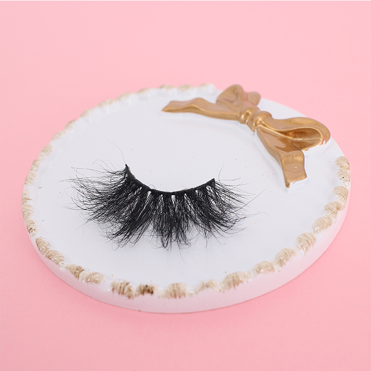 Super fluffy  5D mink eyelash with mangetic eyelash glue liner private label CO
