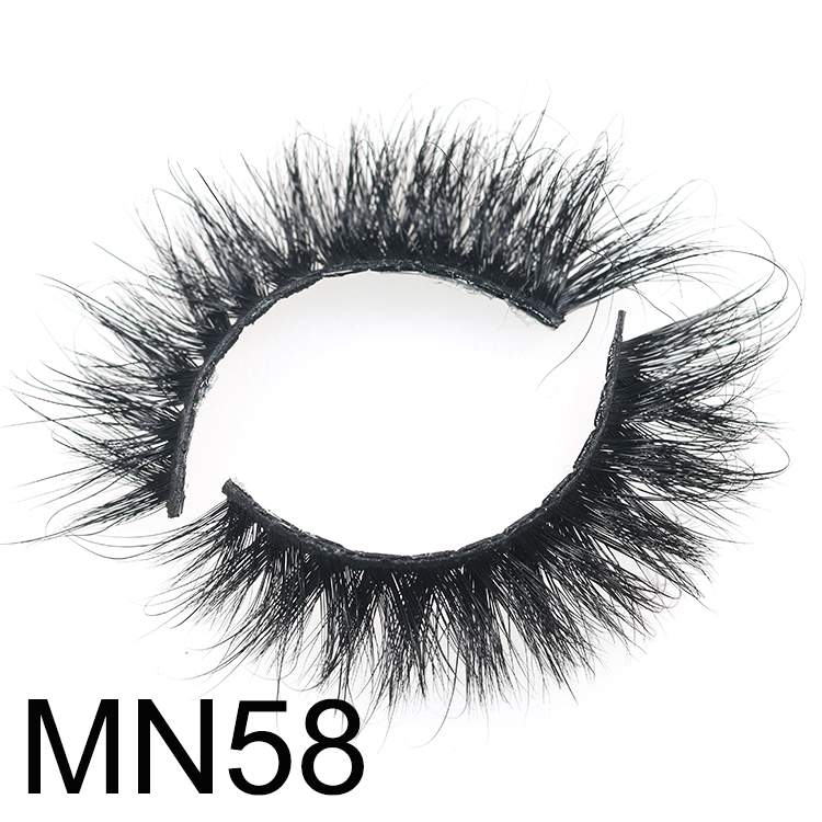 Wholesale fluffy 3D mink eyelash with customized box lash glue eyeliner CO