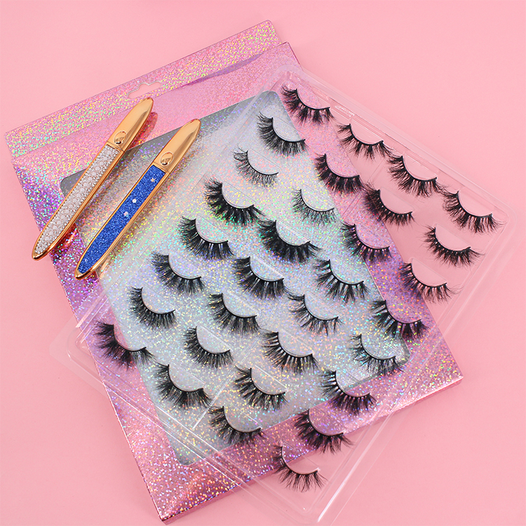 Custom eyelash packaging for 5D mink strip lashes to USA India