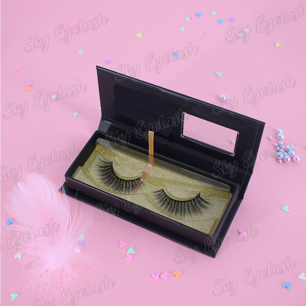 Private label 25mm faux mink eyelashes 3D fake lashes with custom boxes to UK
